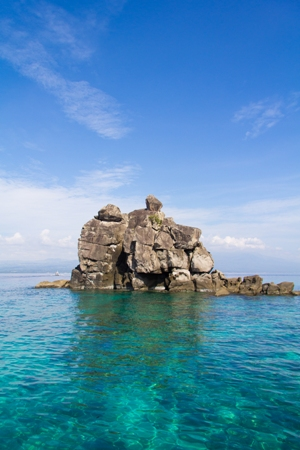 Rock in Apo Island