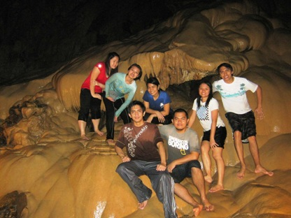 Ms. Lea Balincongan and party at Sumaging Cave