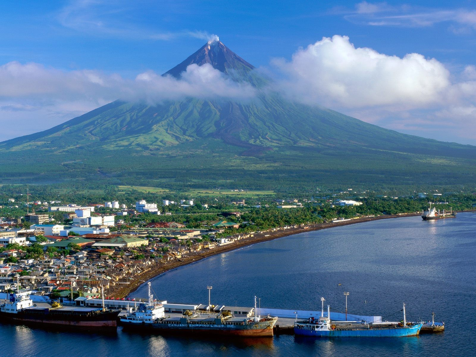 Beach Legazpi Islands Nature City Luzon Landscape Mount Philippines Mayon Wallpaper Scenes Free