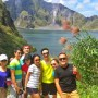 Client at the crater of Mount Pinatubo