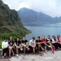 Guest at the crater of Mount Pinatubo